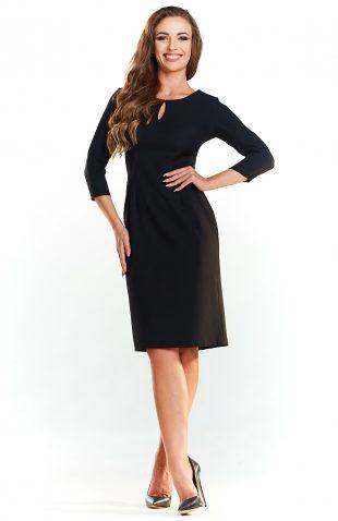 Klasyczna sukienka midi do pracy czarna
