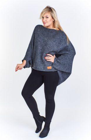 Sweter damski oversize wełniany