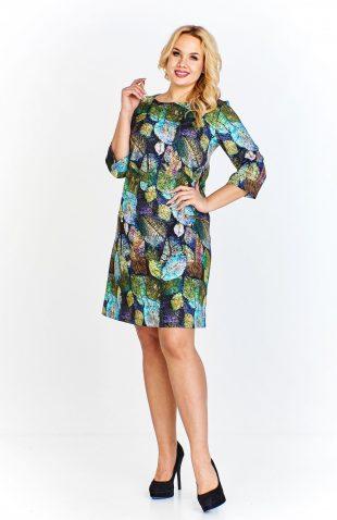 Sukienka plus size trapezowa