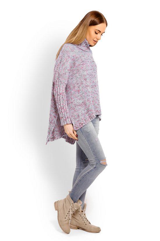 Sweter z golfem damski wełniany