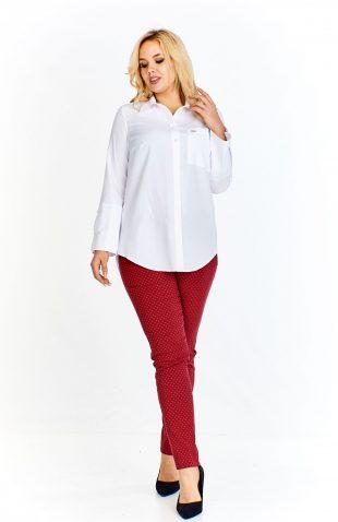 Bluzka damska koszulowa biała bawełniana