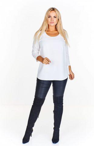 Bluzka damska elegancka plus size