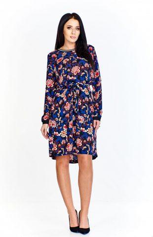 Sukienka do kolan w kwiaty