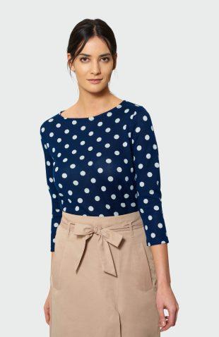 Klasyczny sweter damski w kropki
