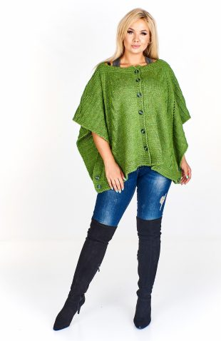 Sweter damski oversize o kroju ponczo