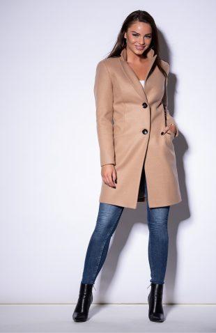 Płaszcz damski klasyczny zapinany na guziki
