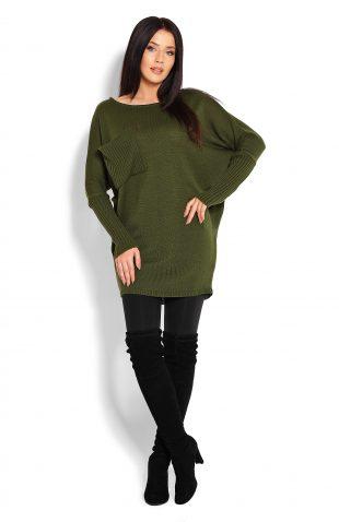 Tunika swetrowa oversize khaki