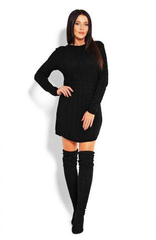 Tunika swetrowa dopasowana czarna