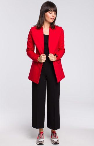 Żakiet dresowy plus size czerwony