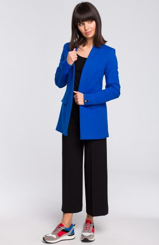 Żakiet dresowy plus size niebieski