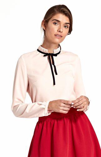Bluzka damska elegancka ze stójką