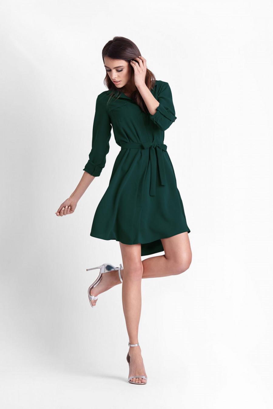 8a40976ce9189e Sukienka koszulowa butelkowa zieleń - kurier od 5,99 zł