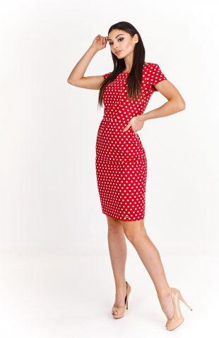 Sukienka ołówkowa z odkrytymi plecami