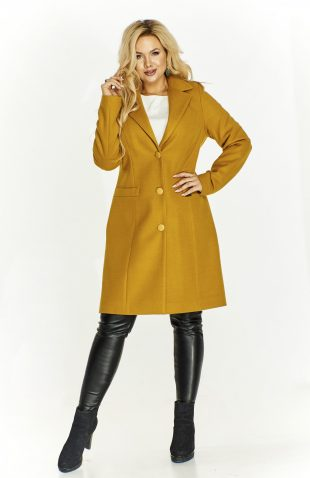 Klasyczny płaszcz damski z wełną