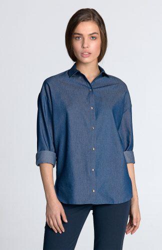 Koszula z długim rękawem jeans