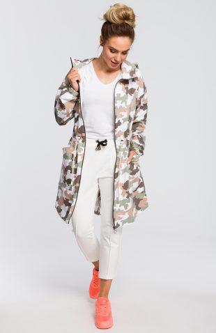 Bluza damska z kapturem rozpinana militarna