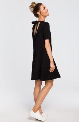 Sukienka z dekoltem na plecach czarna