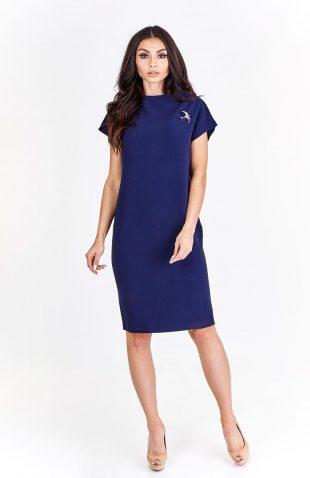 Elegancka sukienka za kolano do pracy