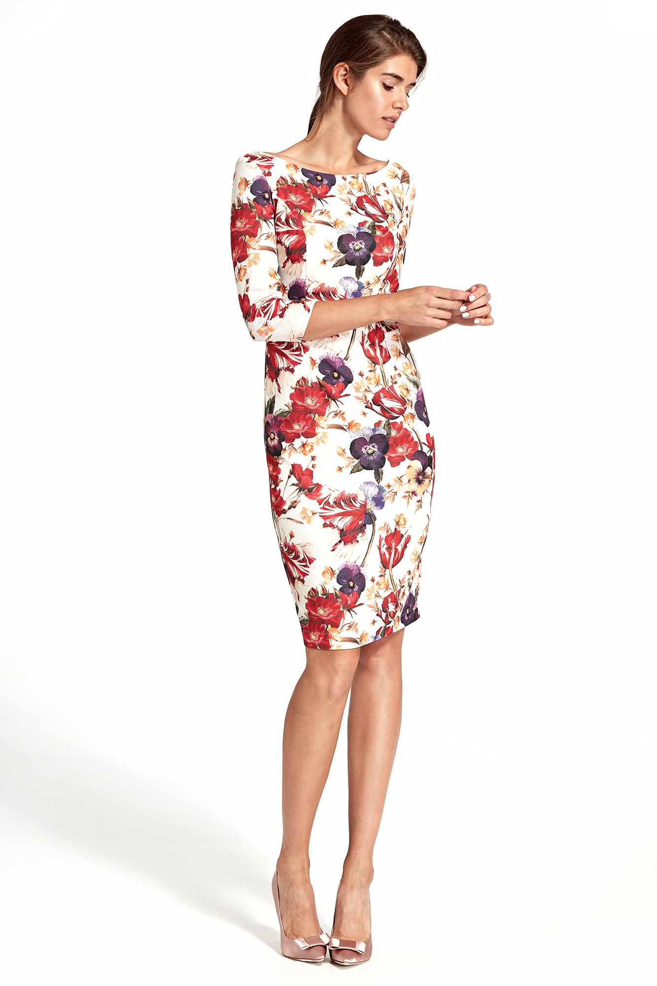 94fbfecc32 Sukienka ołówkowa w kwiaty - szyta w Polsce - kurier od 5