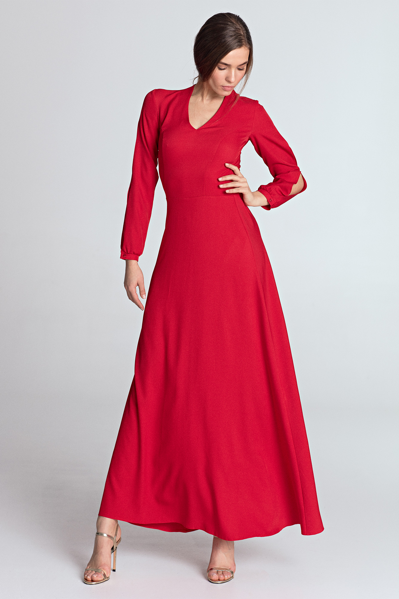 678adb18d2a725 Sukienka do kostek czerwona - szyta w Polsce - kurier od 5,99 zł