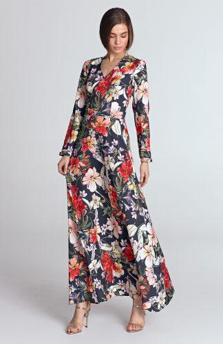 Sukienka do kostek w kwiaty