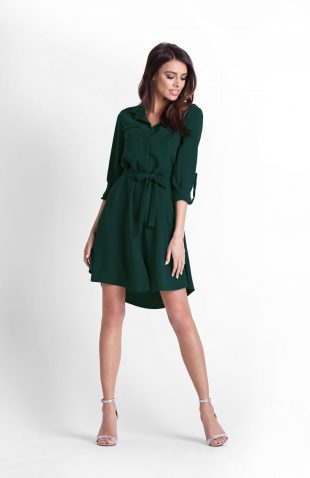 Sukienka koszulowa butelkowa zieleń