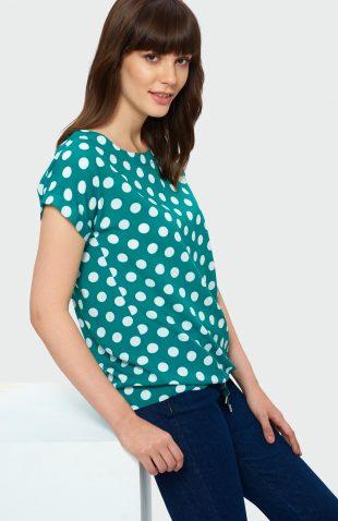 Bluzka w groszki zielona
