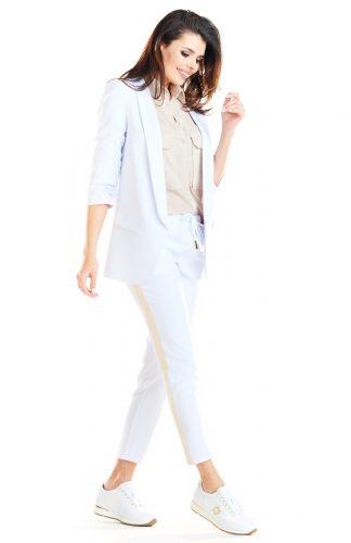 Żakiet damski bez zapięcia biały