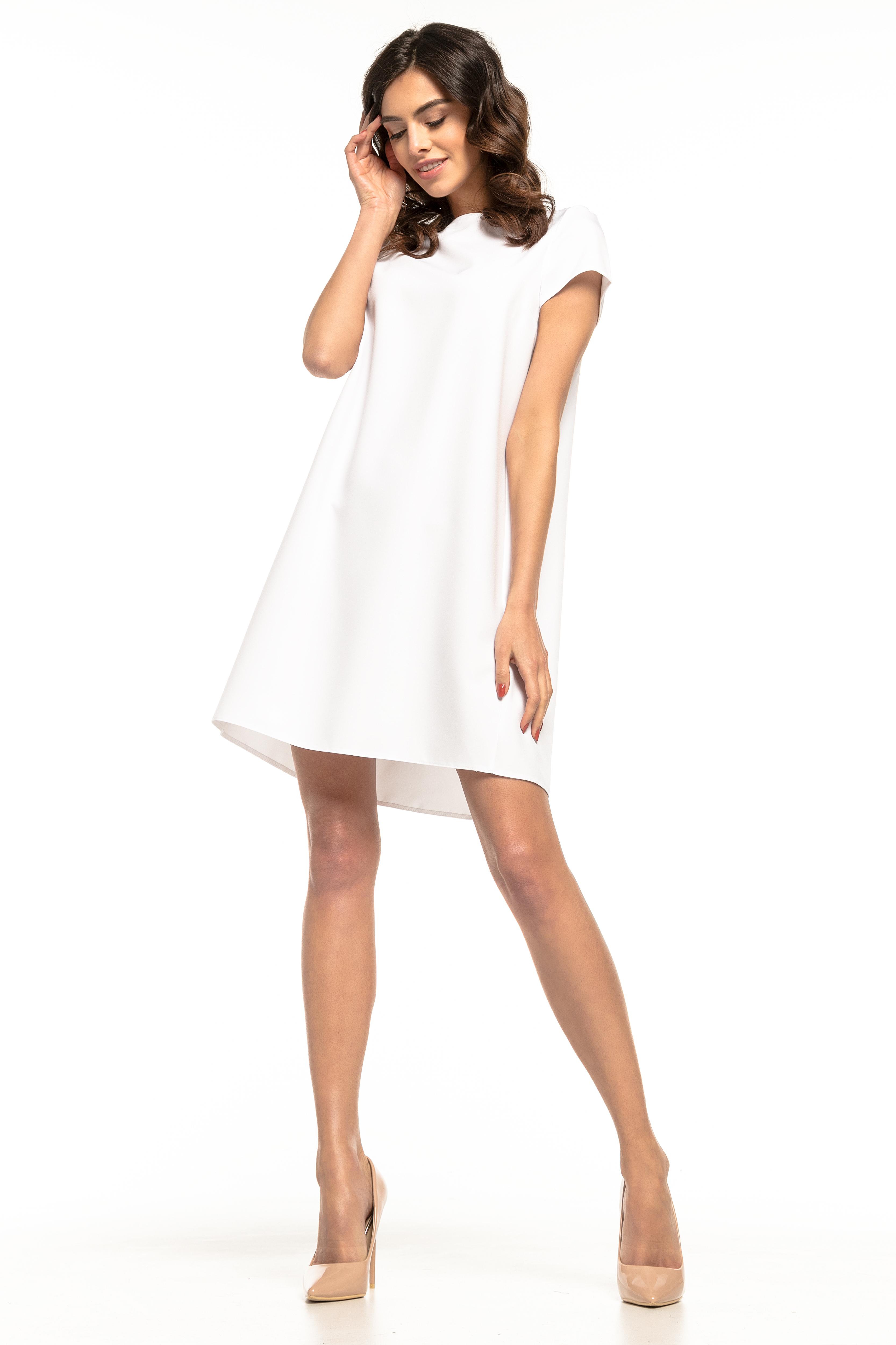 33e9e7cb4e Sukienka trapezowa elegancka biała - tania dostawa już od 5