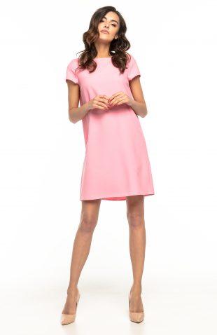 Sukienka trapezowa elegancka róż