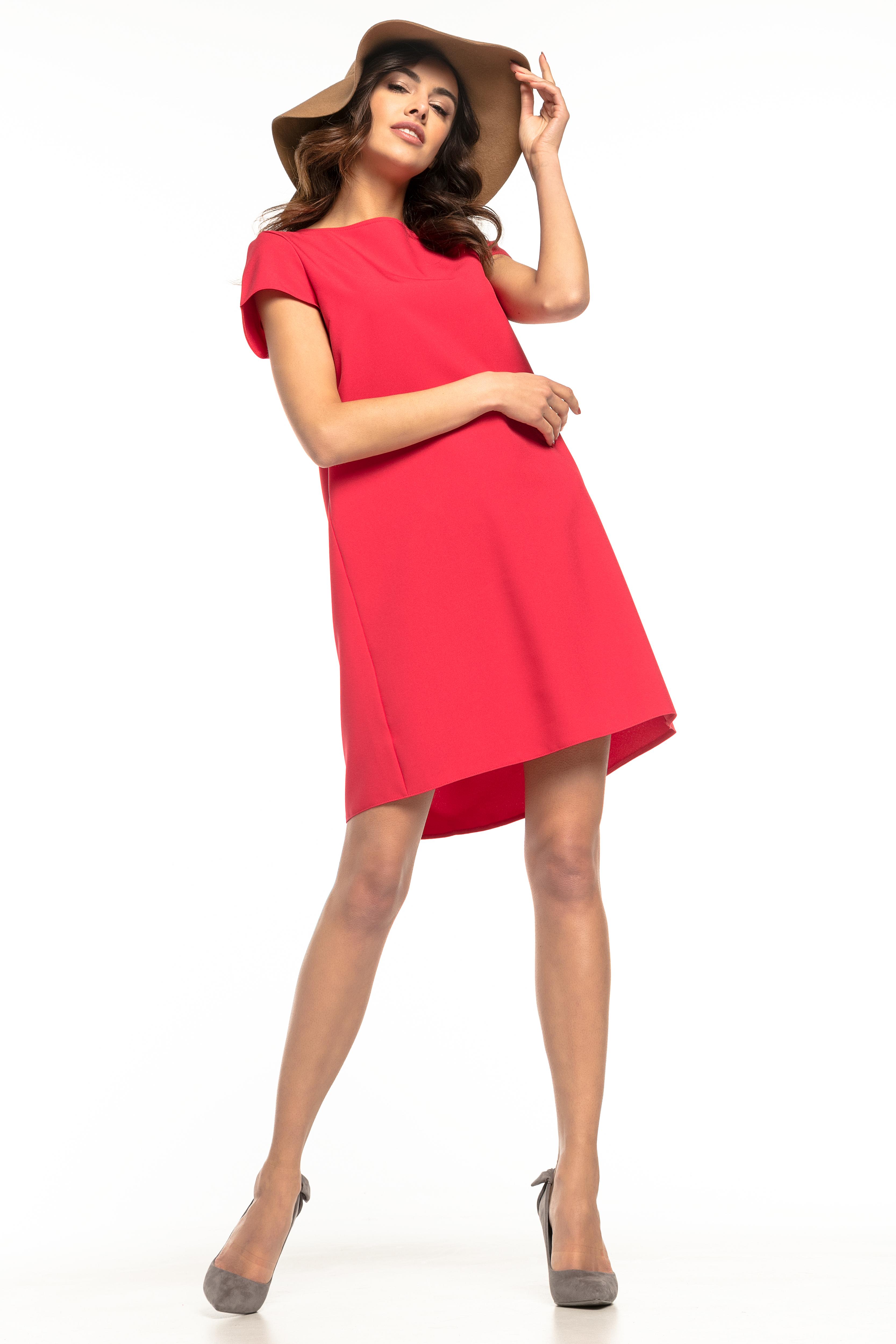 42c44a70bb Sukienka trapezowa elegancka czerwona - tania dostawa już od 5