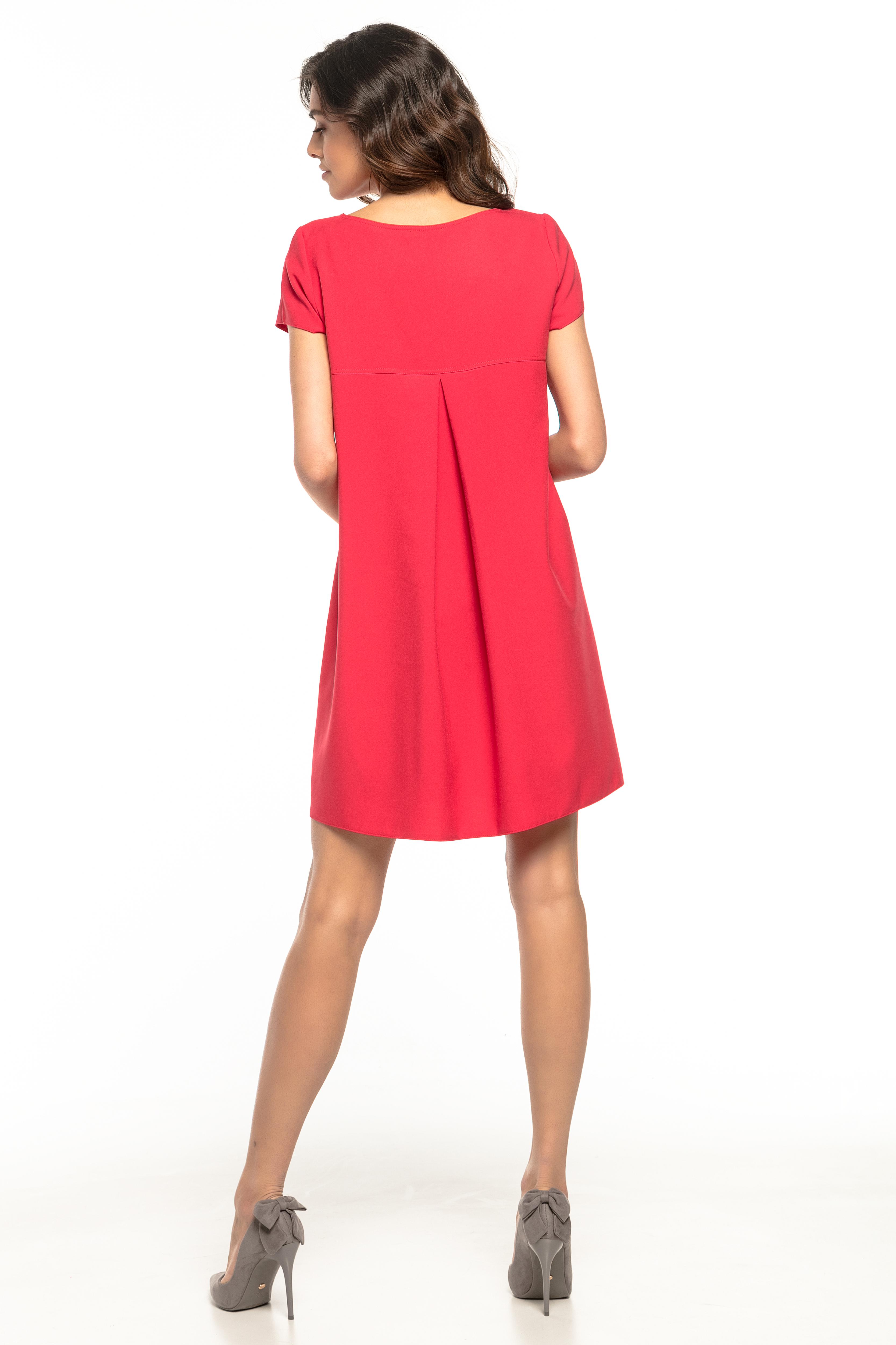 0a12755521 Sukienka trapezowa elegancka czerwona - tania dostawa już od 5