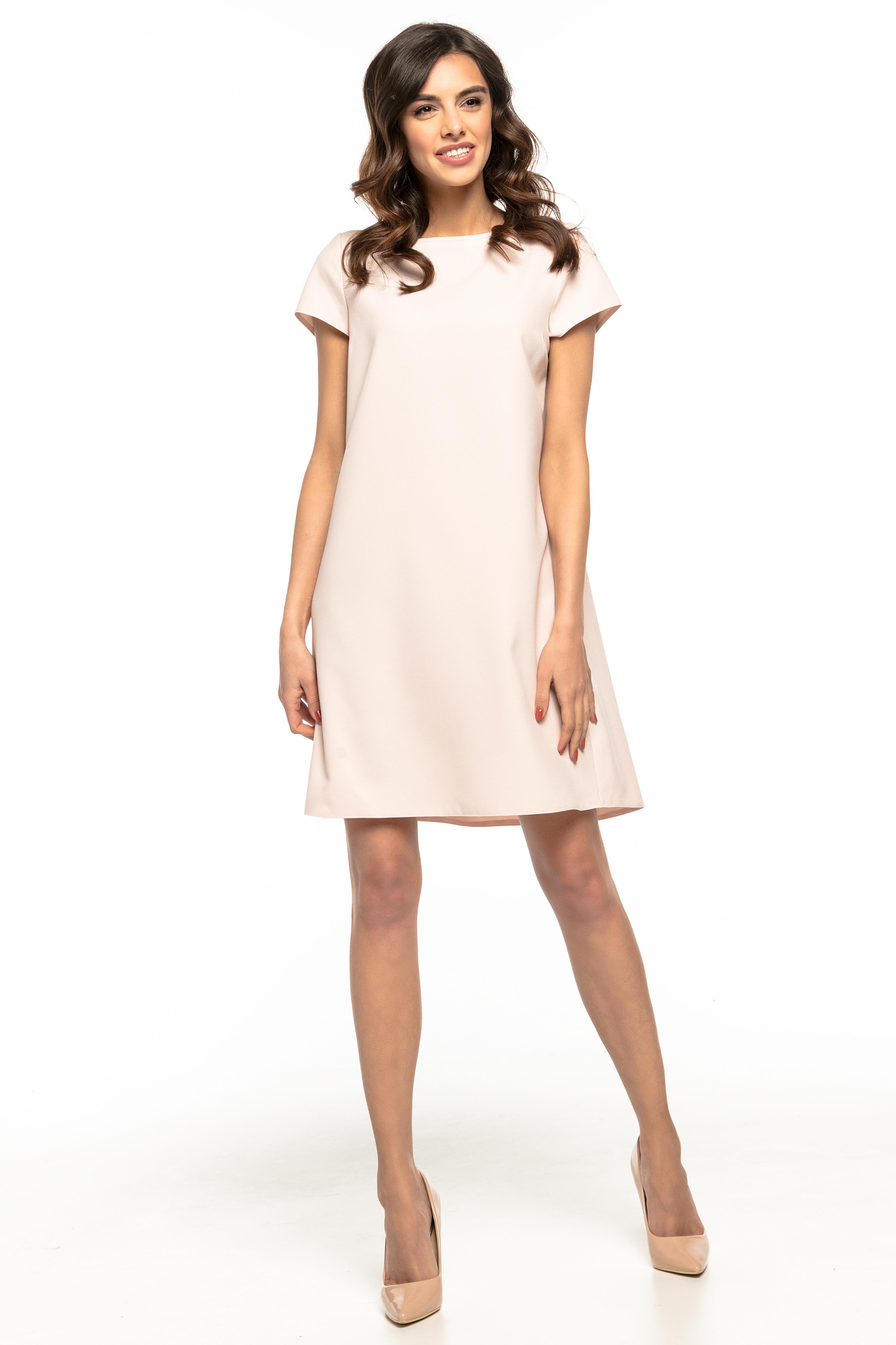 1fffaa5b6b Sukienka trapezowa elegancka różowa - tania dostawa już od 5