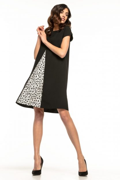 Sukienka trapezowa elegancka czarna
