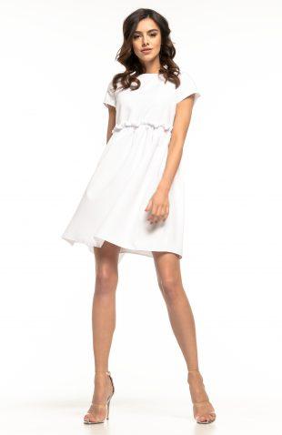 Sukienka odcięta pod biustem biała