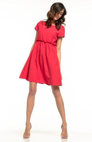 Sukienka odcięta pod biustem czerwona
