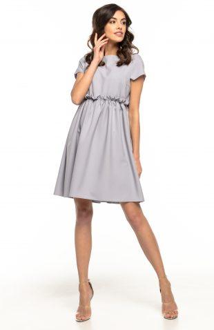 Sukienka odcięta pod biustem szara