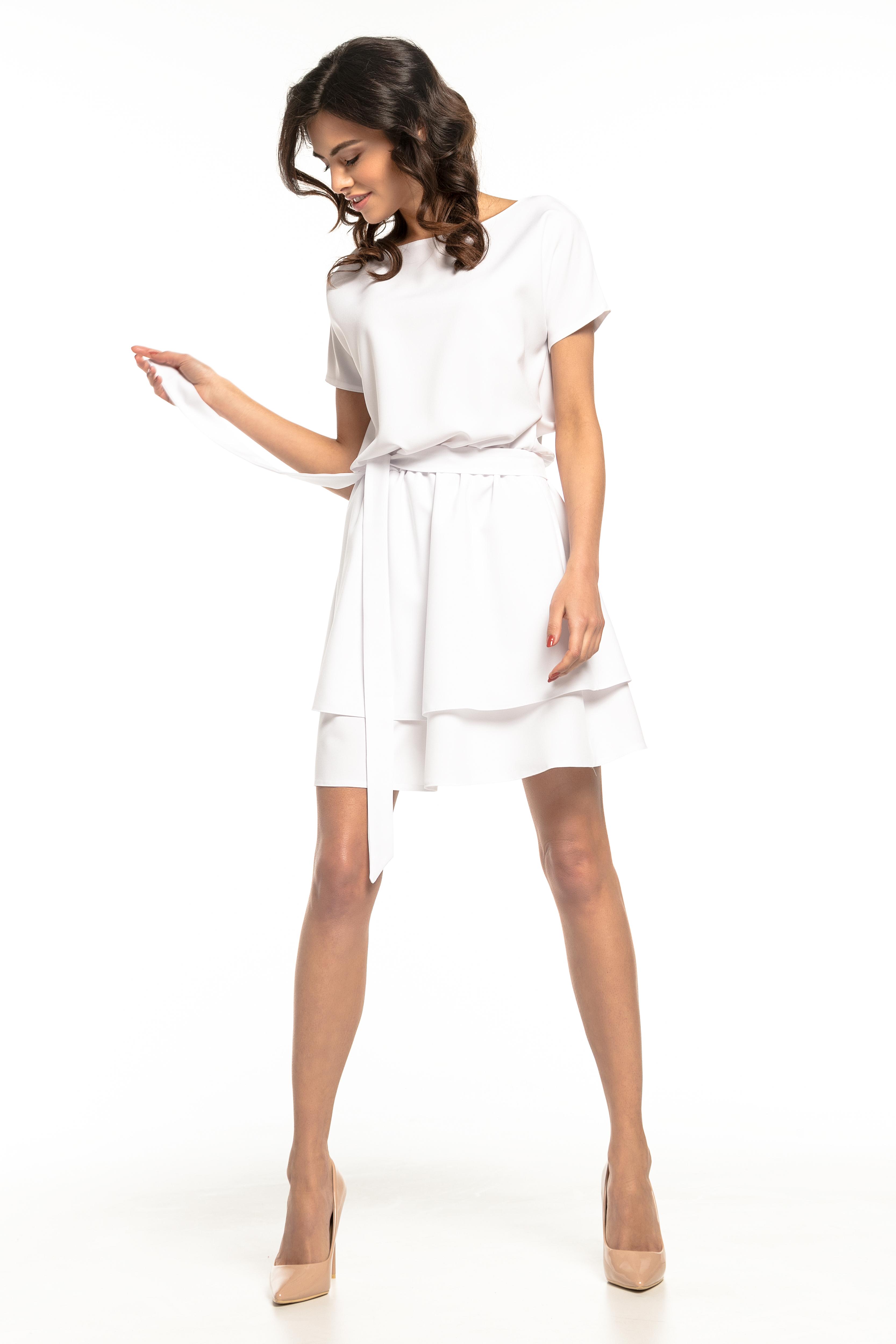 d0c6d9d105 Sukienka rozkloszowana elegancka biała - kurier już od 5