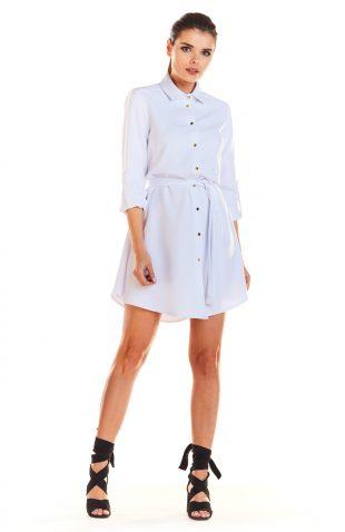 Sukienka koszulowa do kolan biała