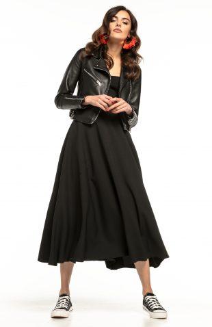 Spódnica midi rozkloszowana czarna
