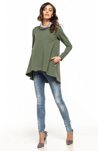 Bluza damska oversize zielona