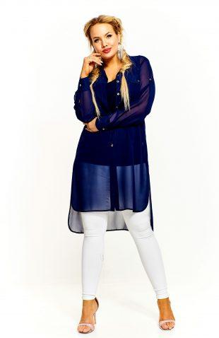 Bluzka damska elegancka długa