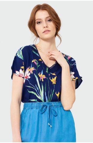 Bluzka kimonowa w kwiaty