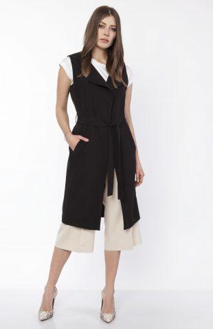 Kamizelka damska elegancka czarna