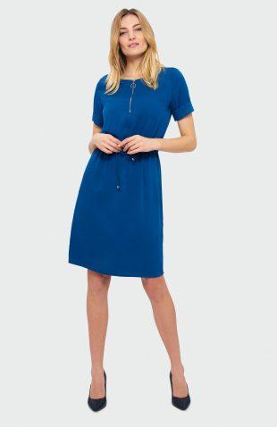 Sukienka do kolan niebieska