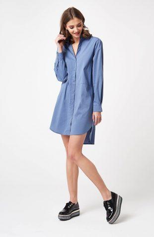 Tunika koszulowa niebieska