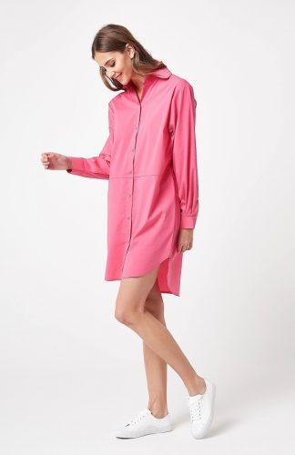 Tunika koszulowa różowa