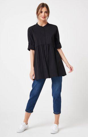 Koszula odcinana pod biustem czarna