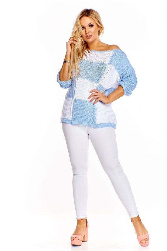 Elegancki sweter z szerokim dekoltem