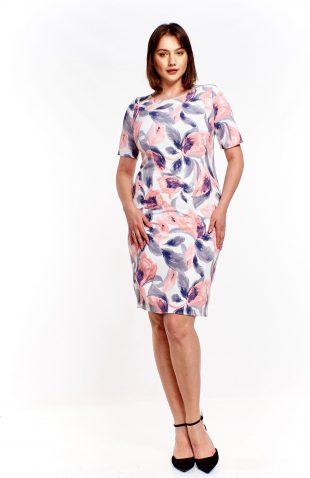 Ołówkowa sukienka w kwiaty plus size